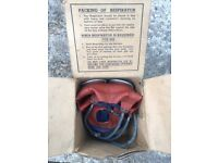Childs gas mask in original box military