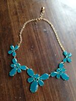 Kate spade gold and teal necklace