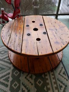 Spool coffee table