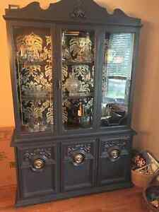 Dining Hutch and Buffet (refinished in modern palette) London Ontario image 4