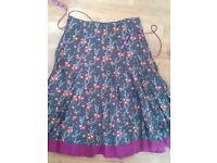 White Stuff generous size 10 skirt fully lined