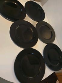 Midnight black wine glasses £70