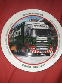 Atlas Editions Eddie Stobart decorative Porcelain Plate 22ct