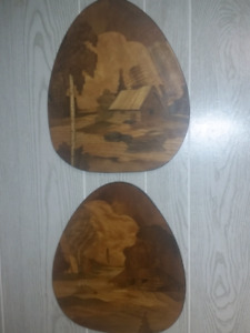 Inlay wooden plaques