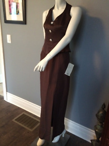 NEW UNWORN Brown Halter Formal dress Size 8 with tags (Inv #5)