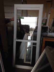 Storm Glass Door with Pull Down Screen
