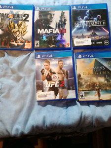 Playstation 4 games for sale!!