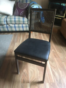 Vintage Leg-O-Matic Lorraine Wicker Cane Back Set 60's chair