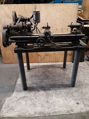 Classic Vintage Antique South Bend 9 Lathe 3 12 Bed With Stand
