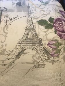 New Eiffel Tower Floral Queen Comforter
