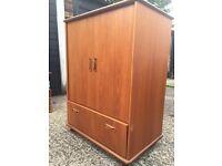 Gplan Solid Teak TV Cabinet Cupboard unit