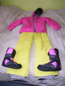 girls snowboarding gear - jacket / pants / boots