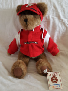KASEY KAHNE DODGE NASCAR RACING FAN TEDDY BEAR IN HAT AND JACKET