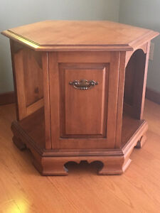 Octoganal accent table by Art Drew