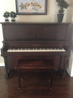 J. W. Shaw and Company Upright Piano