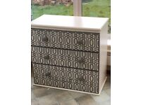 Shabby Chic Stencilled Chest of Drawers