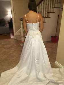 Gorgeous Hand Beeded Crystal Wedding Gown with Cathedral Train