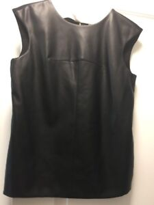 Calvin Klein Leather Women Vest  Sz 6