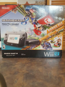 Selling Used Nintendo Wii U with Mario Kart 8 Deluxe Set-32GB.