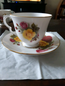 Queen Anne Bone China Tea Cup and Saucer Made in England