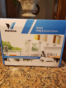 VMedia VDSL2 Modem Router  KW5262 In Excellent Condition
