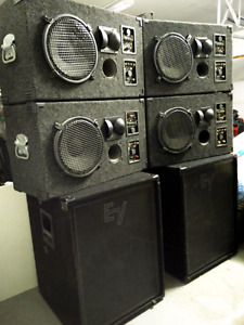 Pro Sound Passive Speaker System and TWO Amplifiers