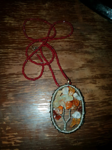 Tree of Life Gem Necklace