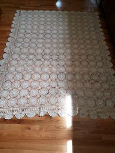 Crocheted Table Cloth (Benefits SPCA)