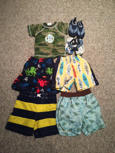 BOYS BATHING SUITS/SUMMER GEAR for 12-18 mos.
