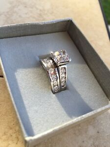 2ct engagement ring and wedding band