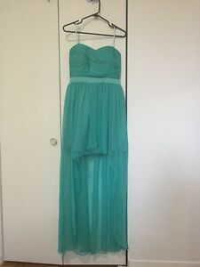 Robe bustier turquoise, bal finissants,soirées cocktail,mariage