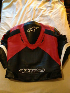Alpinestars RC-1 RC1 Leather Jacket Coat Race Hump
