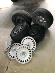 VW Wheels  with Winter Tires (price reduced)