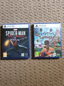 PLAYSTATION 5 PS5 GAMES - SPIDERMAN MILES MORALES & SACKBOY SEALED