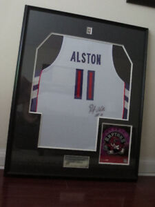 Signed Rafer Alston Jersey with COA -- Under Glass --