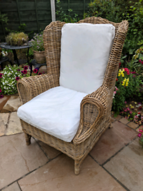 Wicker Wing Back Chair from TK Maxx Rattan Cane Garden Conservatory