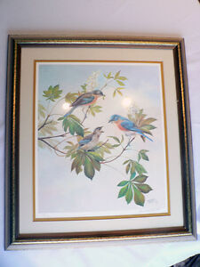 Bluebirds by Bernard Martin Signed Limited Edition Print North Shore Greater Vancouver Area image 4