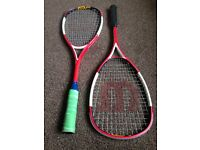 Squash rackets/trainers and accessories