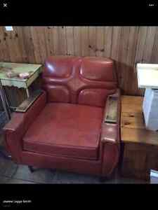 Antique leather sofa and chair St. John's Newfoundland image 1