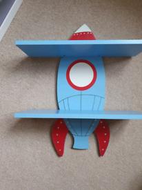 Children's rocket shelf