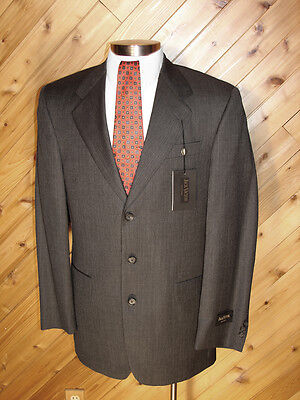 Jack Victor Mens Charcoal Gray Heather 3 Button Suit 40L NWT on Rummage