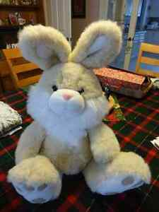 "Large Cream Coloured Bunny - from England - 18"" high"