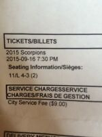 TWO TICKETS TO SCORPIONS