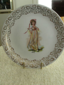"POPULAR LAWRENCE VINTAGE CHINA  ""PINKY"" PLATE by WOOD & SONS"