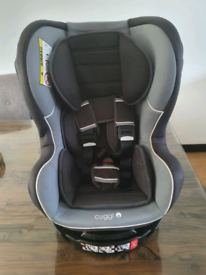 Cuggl Owl Spin Group 0/1/2 Car Seat Grey