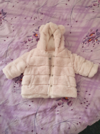 Fur coat for baby girls