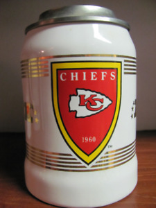 "NFL KC CHIEFS Retro Arrowhead Logo 6"" Beer Stein Mug"