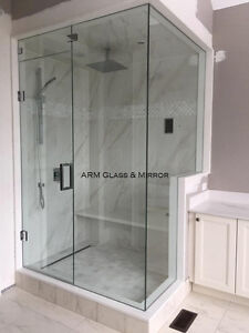 Shower door install find or advertise skilled trade services glass shower door railings office partition planetlyrics Images
