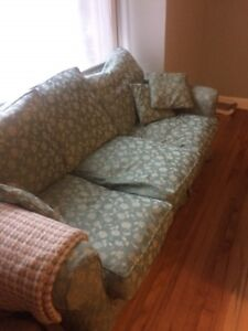 Oversized sofa & loveseat.  Great condition. Great for cuddling