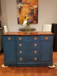 Stunning Antique Sideboard Buffet Credenza